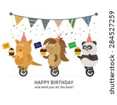 birthday | Shutterstock .eps vector #284527259