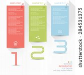 infographic elements   memo... | Shutterstock .eps vector #284531375