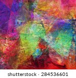 abstract multicolor layer... | Shutterstock . vector #284536601