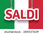 saldi  sale on italian . eps10. | Shutterstock .eps vector #284537639