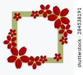 decorative green papercut... | Shutterstock .eps vector #284538191