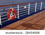 Cruise Ship Railing And Life...