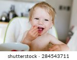 Cute Little Baby Eating...