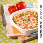 omelette with vegetables | Shutterstock . vector #28454458