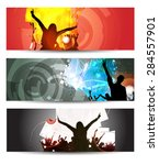 banner of music party event | Shutterstock . vector #284557901
