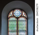 Colorful Leaded Glass Window I...