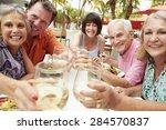 group of senior friends... | Shutterstock . vector #284570837