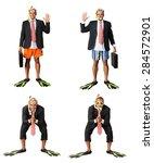 humor  tourist  beach. | Shutterstock . vector #284572901