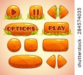 cartoon orange buttons with...