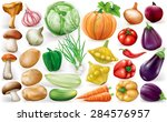 set of vegetable on white... | Shutterstock .eps vector #284576957