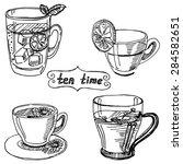 vector sketch illustration  ...   Shutterstock .eps vector #284582651