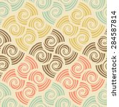 ornamental seamless pattern.... | Shutterstock .eps vector #284587814