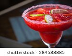 Strawberry Margarita Cocktail...