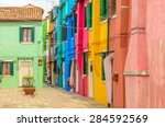 colorful apartment building in