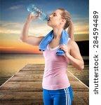 activity  adult  athlete. | Shutterstock . vector #284594489