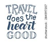vector calligraphic hand drawn... | Shutterstock .eps vector #284597207
