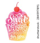 vector illustration of cupcake... | Shutterstock .eps vector #284597891