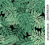 vector amazon jungle seamless... | Shutterstock .eps vector #284598359
