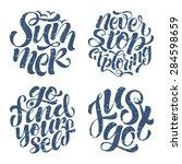 vector calligraphic... | Shutterstock .eps vector #284598659