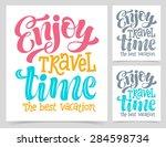 vector calligraphic... | Shutterstock .eps vector #284598734