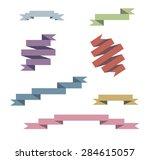 vector blue ribbons set   Shutterstock .eps vector #284615057