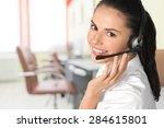 customer service representative ... | Shutterstock . vector #284615801