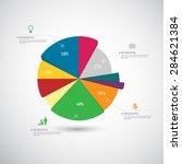 business infographics template. ... | Shutterstock .eps vector #284621384