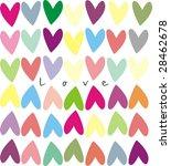 valentine background with heart | Shutterstock . vector #28462678