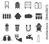 industrial pipeline parts. pipe ...   Shutterstock .eps vector #284628671