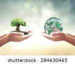 world environment day concept ...   Shutterstock . vector #284630465
