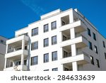 recently constructed apartment... | Shutterstock . vector #284633639