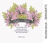 invitation card with floral... | Shutterstock .eps vector #284636471