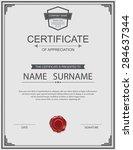vector certificate template. | Shutterstock .eps vector #284637344