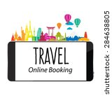 travel and tourism concept... | Shutterstock .eps vector #284638805