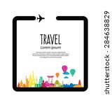 travel and tourism concept... | Shutterstock .eps vector #284638829
