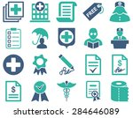 medical icon set. style ... | Shutterstock .eps vector #284646089