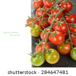 fresh cherry tomatoes on a... | Shutterstock . vector #284647481