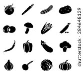 vector set of black vegetables... | Shutterstock .eps vector #284648129