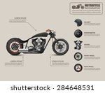 Motorcycle Infographic. Vector...