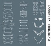 freehand icon set minimal style ... | Shutterstock .eps vector #284650007