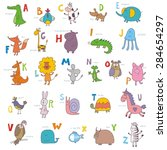 abc zoo vector design | Shutterstock .eps vector #284654297