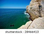 Cliff At Algarve Coast In...