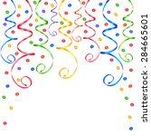 festive serpentine and confetti | Shutterstock .eps vector #284665601
