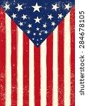 american retro poster grunge.... | Shutterstock .eps vector #284678105