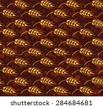 seamless vintage pattern with... | Shutterstock .eps vector #284684681