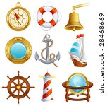 vector illustration   sailing... | Shutterstock .eps vector #28468669