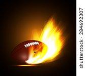 ball for american football in... | Shutterstock . vector #284692307
