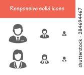 responsive solid business man...   Shutterstock .eps vector #284694467