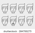 men face with different... | Shutterstock .eps vector #284700275