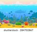 underwater seamless landscape ... | Shutterstock .eps vector #284702867